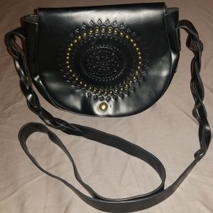 Black Purse with a great design on the front.
